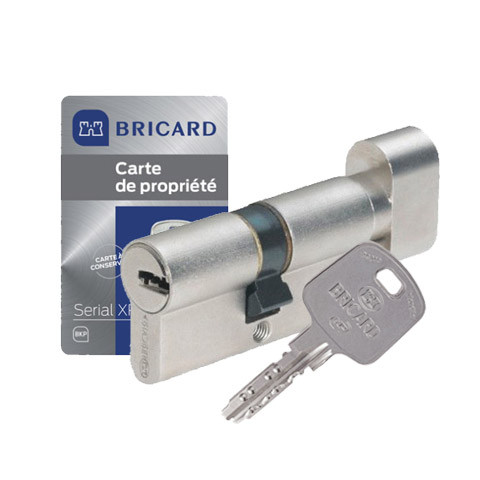 Cylindre à bouton Serial XP Bricard nickelé